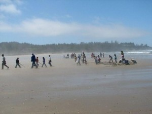 Hillcrest Elementary second graders on an inquiry-based field trip at Bastendorff Beach, Oregon. (Trish Mace)