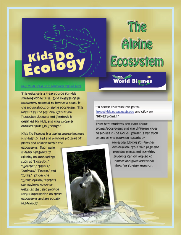 Resources For The Classroom Biomes Clearing A Resource Journal