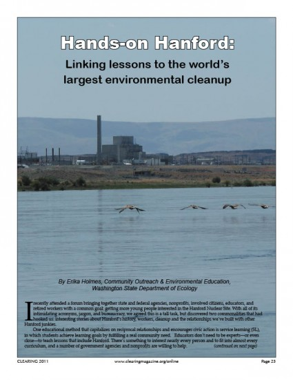 Hands-on Hanford: Linking Lessons